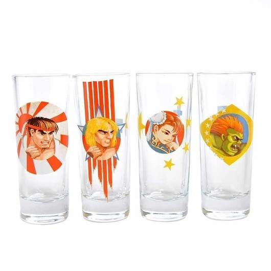 SET 4 VASOS CHUPITO STREET FIGHTER CHARACTERS HONOUR