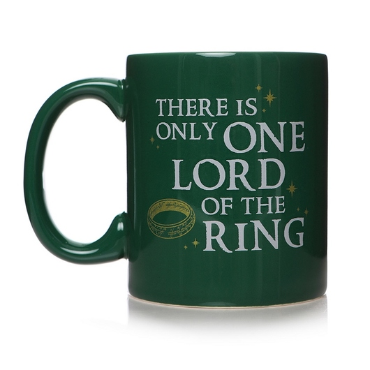 TAZA THE LORD OF THE RINGS ONLY ONE RING