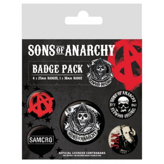 Pack De Chapas Sons Of Anarchy