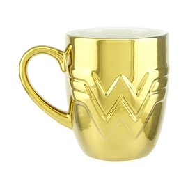 TAZA DC COMICS WONDER WOMAN 1984 LOGO DORADO
