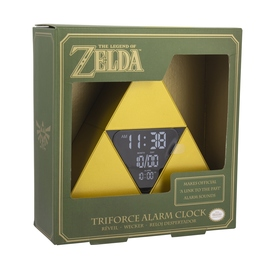 RELOJ DESPERTADOR THE LEGEND OF ZELDA TRIFORCE
