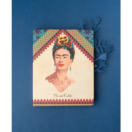 NOTEBOOK PREMIUM A5 SPINE WIRE-O FRIDA KAHLO