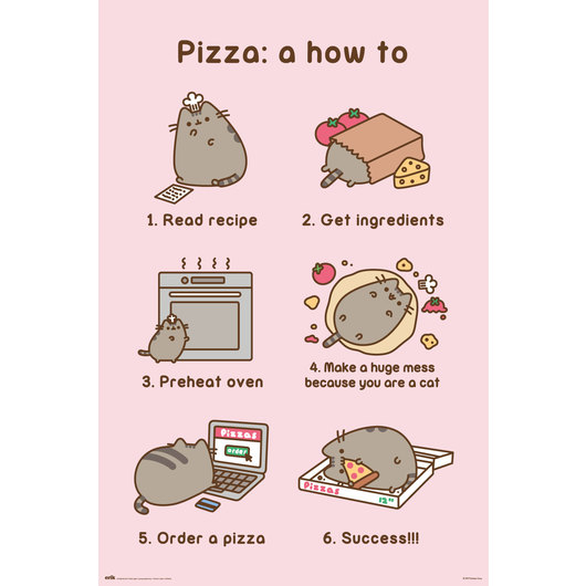 POSTER PUSHEEN PIZZA RECIPE
