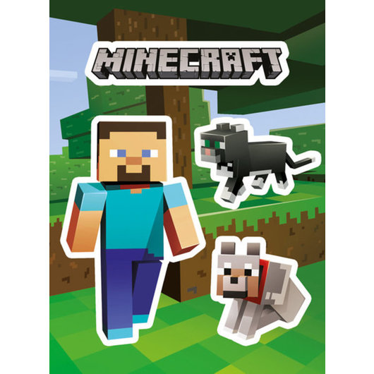 PACK STICKERS VINILO MINECRAFT STEVE AND PETS