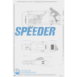 POSTER STAR WARS REYS SPEEDER