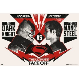 POSTER BATMAN V SUPERMAN ULTIMATE FACE OFF