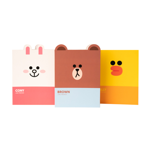 SET DE 3 CUADERNOS A6 LINE FRIENDS