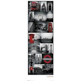 POSTER PUERTA LONDRES COLLAGE