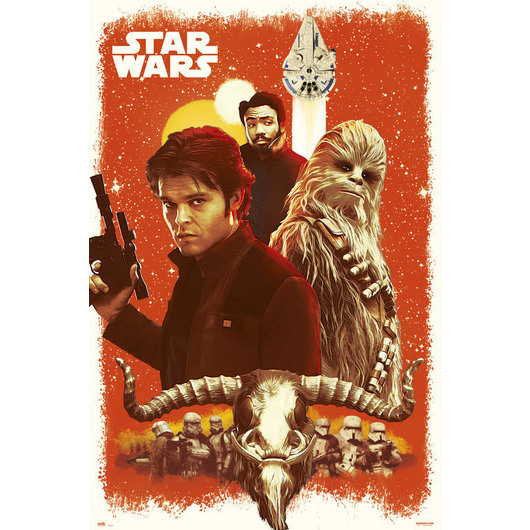 POSTER STAR WARS SOLO OLD FRIENDS
