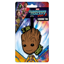 ETIQUETA DE EQUIPAJE MARVEL GUARDIANES DE LA GALAXIA 2 I AM GROOT