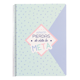 CUADERNO TAPA POLIPROPILENO A4 4X4 AMELIE PASTEL COLLECTION