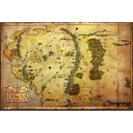 POSTER THE HOBBIT MAP