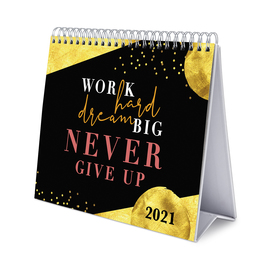 CALENDARIO DE ESCRITORIO DELUXE 2021 GLITTER GOLD DREAMS