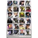 POSTER OVERWATCH CHARACTER PORTRAITS