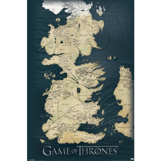 POSTER GAME OF THRONES MAP