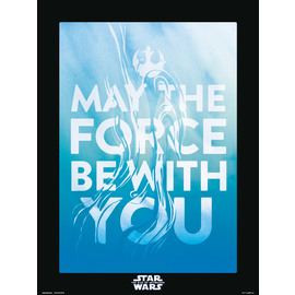 PRINT 30X40 CM STAR WARS EPISODIO IX MAY THE FORCE BE WITH YOU