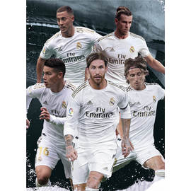 POSTAL REAL MADRID 2019/2020 GRUPO