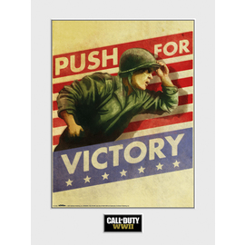 ART PRINT 30X40 CALL OF DUTTY WWII PUSH FOR VICTORY