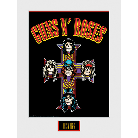 ART PRINT 30X40 GUNS N ROSES CROSS