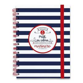 NOTEBOOK PREMIUM WIRE-O A5 AMELIE MARINERO