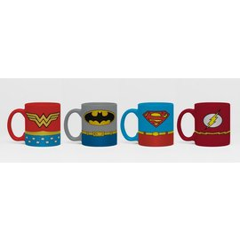 SET DE MINI TAZAS DC COMICS UNIFOMRS