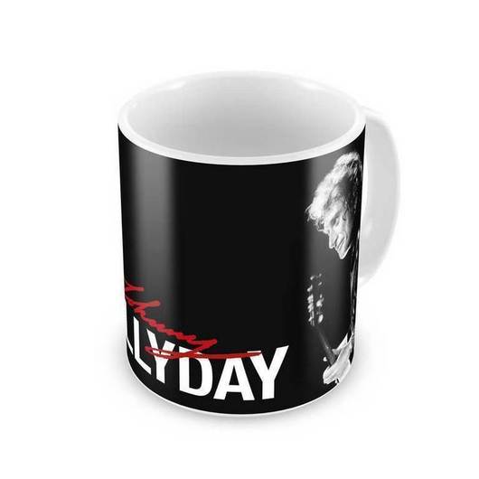 TAZA JOHNNY HALLYDAY BLACK
