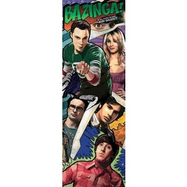 POSTER PUERTA THE BIG BANG THEORY COMIC