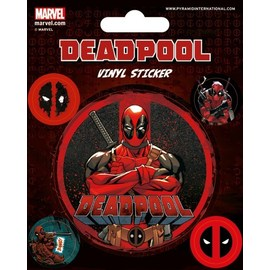 SET PEGATINAS VINILO DEADPOOL