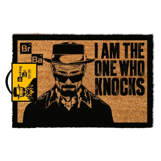 FELPUDO BREAKING BAD I AM THE ONE WHO KNOCKS