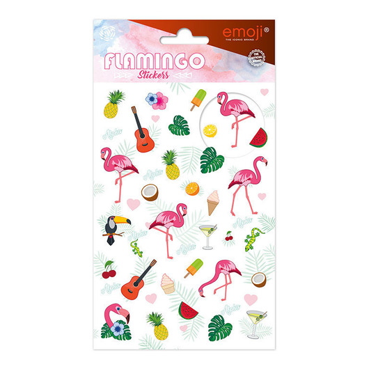 SET STICKERS EMOJI FLAMINGO