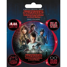 SET PEGATINAS VINILO STRANGER THINGS ONE SHEET