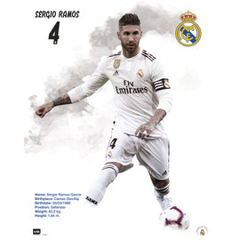 MINI POSTER REAL MADRID 2018/2019 SERGIO RAMOS