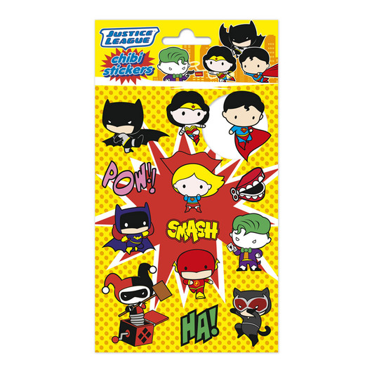 SET STICKERS DC COMICS CHIBI