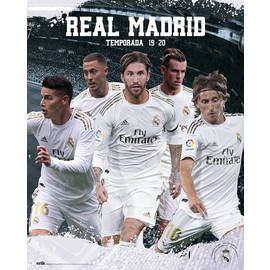 MINI POSTER REAL MADRID 2019/2020 GRUPO
