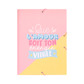 CARPETA SOLAPAS CAROUGE BLUE & PINK FR