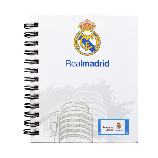 MINI NOTEBOOK TAPA DURA REAL MADRID 2