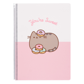 CUADERNO TAPA POLIPROPILENO A4 4X4 PUSHEEN ROSE COLLECTION