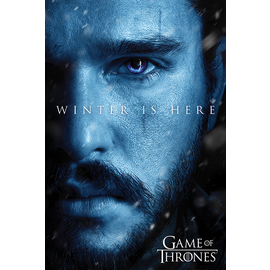 POSTER GAME OF THRONES WINTER IS HERE JON