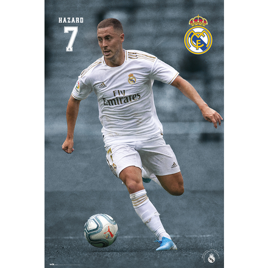 POSTER REAL MADRID 2019/2020 HAZARD