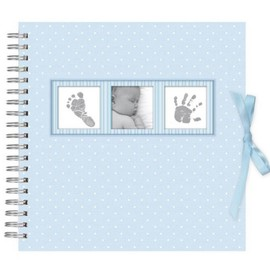 SCRAPBOOK ALBUM 100 FOTOS 10X15CM BABY POLKA BLUE