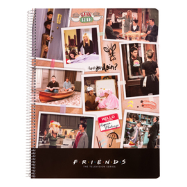 CUADERNO TAPA POLIPROPILENO A4 5X5 MICROPERFORADO FRIENDS