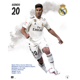 MINI POSTER REAL MADRID 2018/2019 ASENSIO
