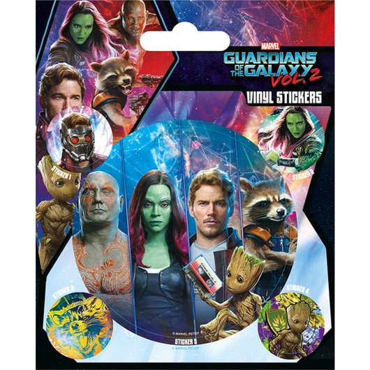 STICKER VINILO GUARDIANS OF THE GALAXY VOL. 2 TEAM