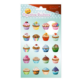 SET STICKERS EMOJI CUPCAKES