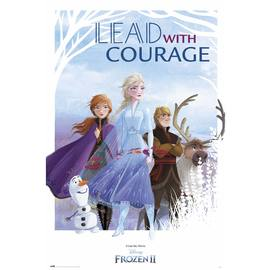 POSTER DISNEY FROZEN LEAD WITH COURAGE