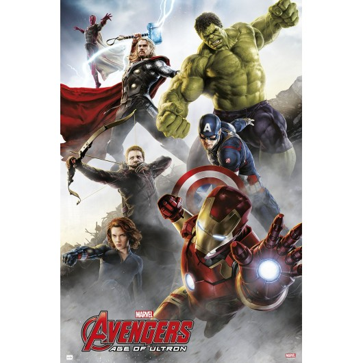 POSTER MARVEL AVENGERS AGE OF ULTRON GROUP IRON MAN