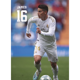 POSTAL REAL MADRID 2019/2020 JAMES ACCION