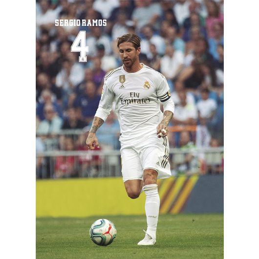 POSTAL REAL MADRID 2019/2020 SERGIO RAMOS ACCION