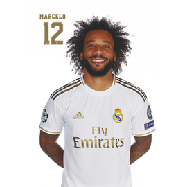 POSTAL REAL MADRID 2019/2020 MARCELO BUSTO