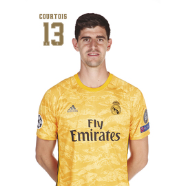 POSTAL REAL MADRID 2019/2020 COURTOIS BUSTO